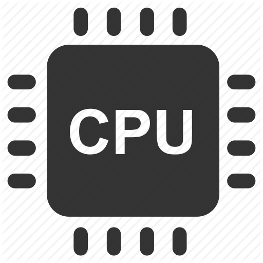chip, computer, computer hardware, cpu, electronic, hardware, processor icon - Computer Cpu PNG Black And White