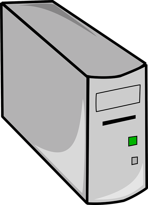 Cpu Box, Hardware, Computer, Desktop, Tower, Cpu - Computer Cpu PNG Black And White