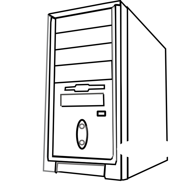 Cpu Clip Art - Computer Cpu PNG Black And White
