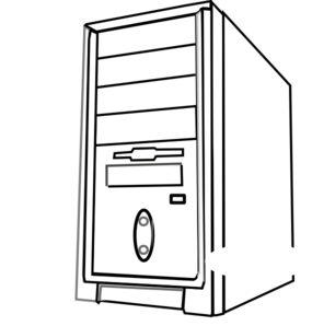 CPU Clipart Free Download Clip - Computer Cpu PNG Black And White