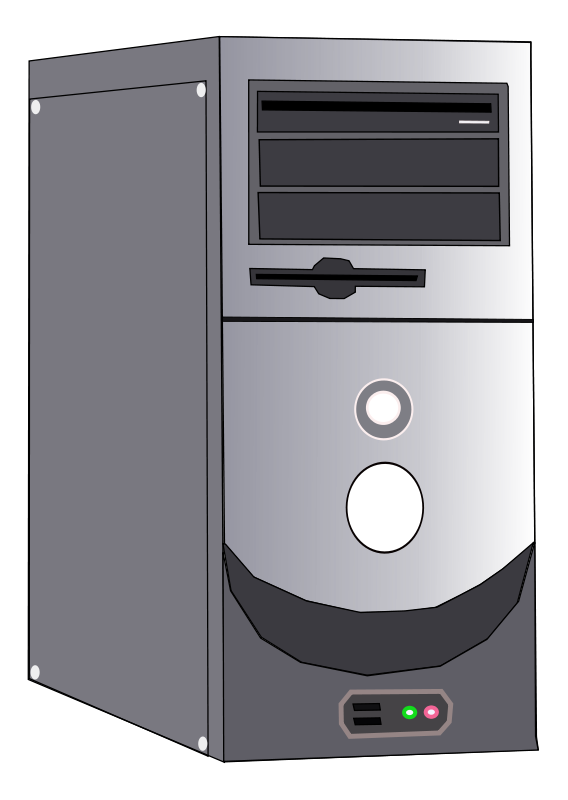 Have a look at the CPU and Servers in Computer Clipart:: - Computer Cpu PNG Black And White