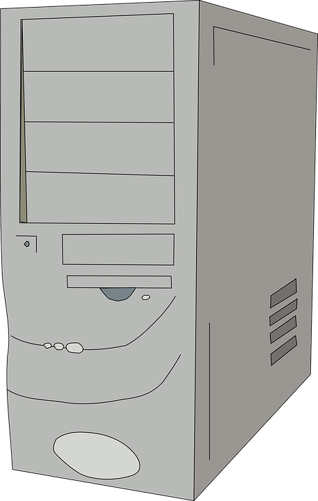 Tower, Cpu, Gray, Server, Workstation, Communication - Computer Cpu PNG Black And White