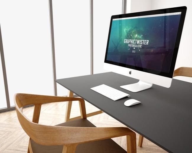 Computer Desk PNG HD - 129754