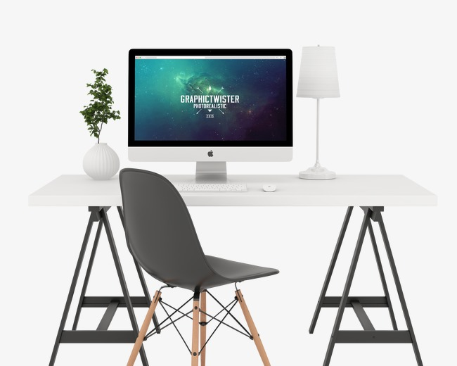 Computer Desk PNG HD - 129749