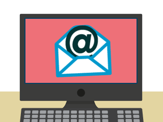 A screen with an email on it - Computer Email PNG