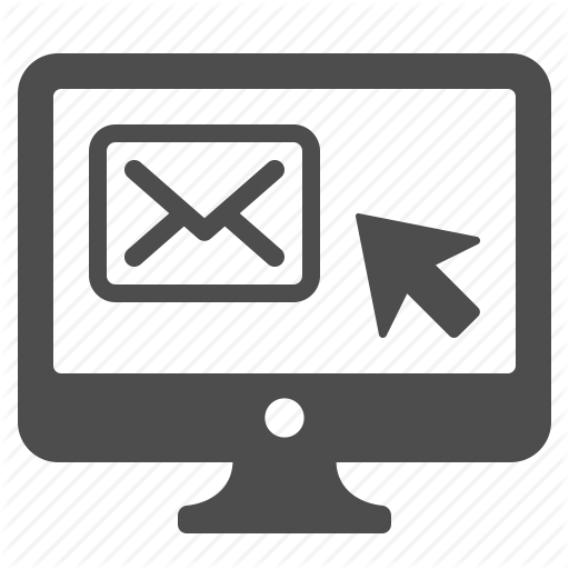 click, computer, email, envelope, mail, monitor icon - Computer Email PNG