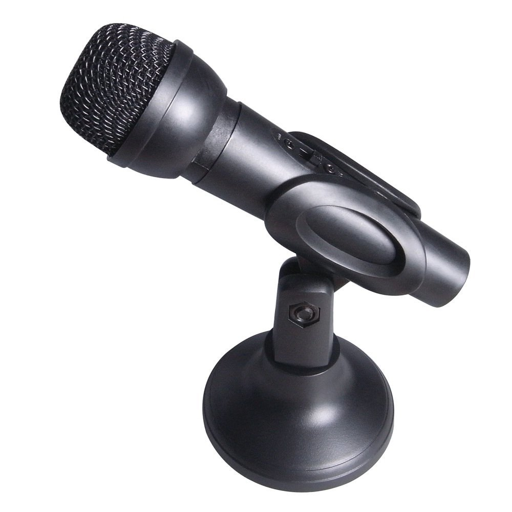 Computer Gear Desktop PC Handheld Microphone with adjustable stand - Black:  Amazon.co.uk: Computers u0026 Accessories - Computer Mic PNG