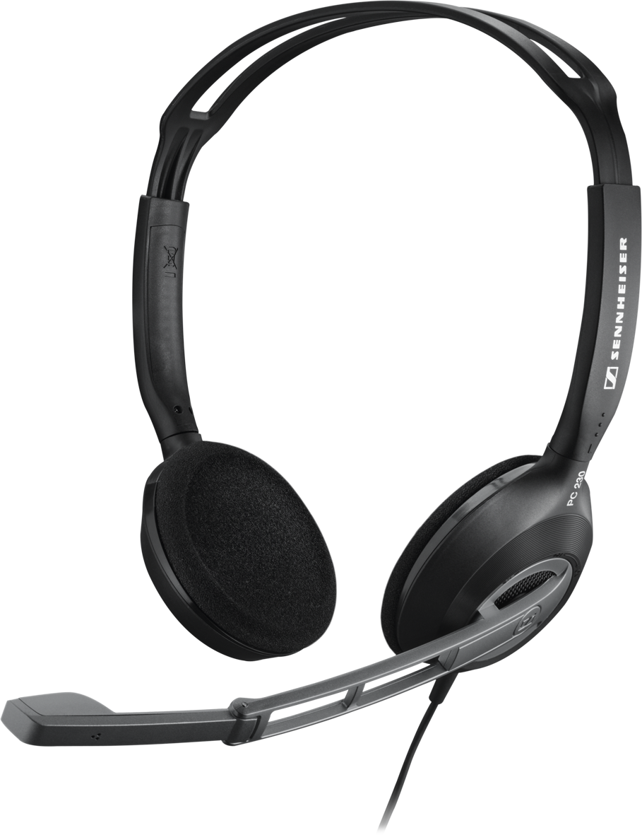 With its high-quality speakers and Sennheiser stereo sound, the PC 230  combines first-class performance with compact design. Despite its modest  dimensions, PlusPng.com  - Computer Mic PNG