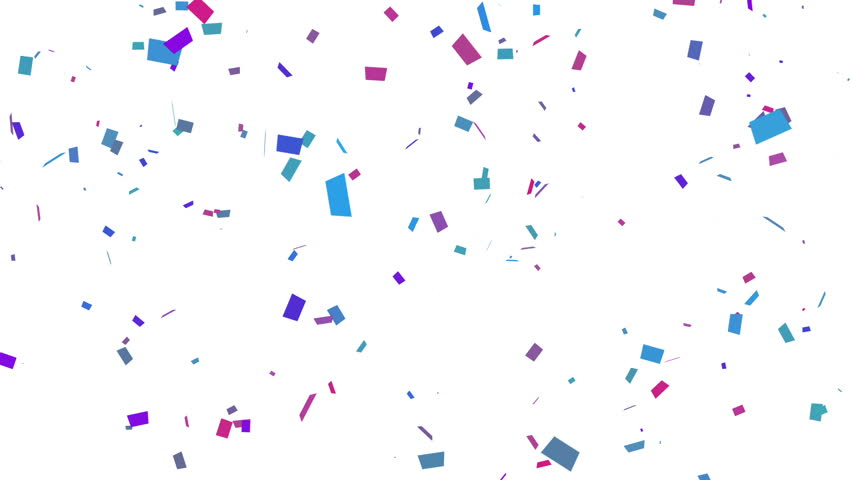 Confetti Falling With Matte. Loop. - HD stock footage clip - Confetti HD PNG