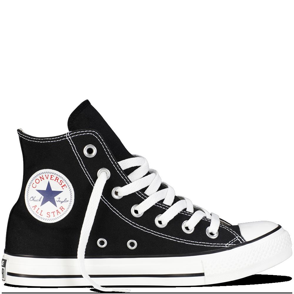 Converse Black High Top - Chuck Taylor PNG - Converse PNG
