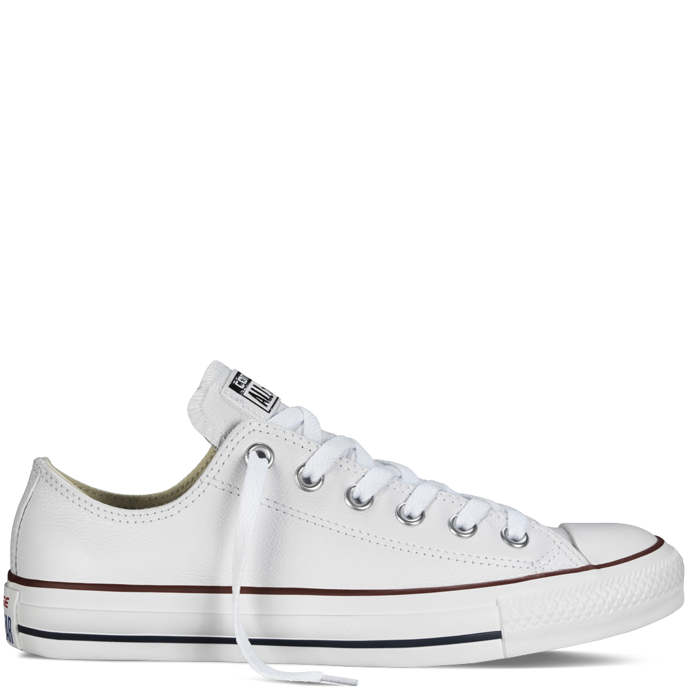 Converse - Chuck Taylor Leather - Low - White - Converse PNG