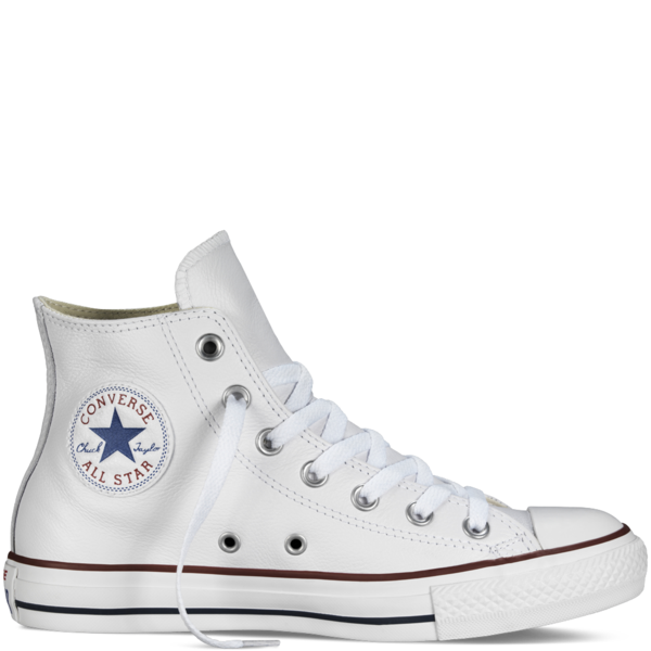 Converse Leather Chuck Taylor Hi Optical White 132169 - Converse PNG