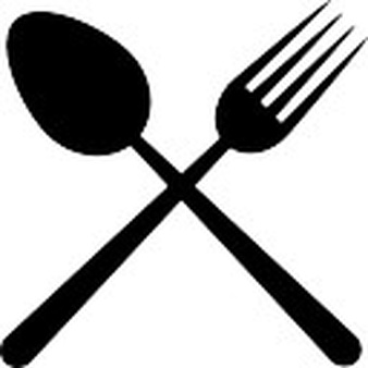 Restaurant cutlery symbol of a cross - Cooking Tools PNG