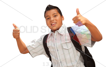 Cool School Age Kid With Backpack And Thumbs Up! - Cool Kid PNG