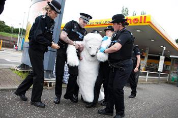 Polar Bear Arrest - Cop Arresting Someone PNG
