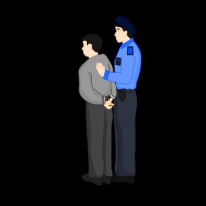 Police Arresting Man - Cop Arresting Someone PNG