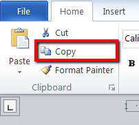 Alternatively, with the text still selected, you may click the Copy button,  within the Clipboard group in the Home tab. - Copy Of Word
