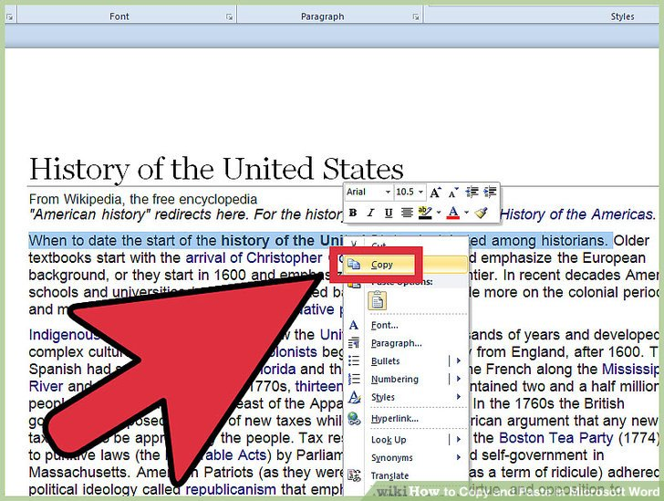 Image titled Copy and Paste in Microsoft Word Step 5 - Copy Of Word