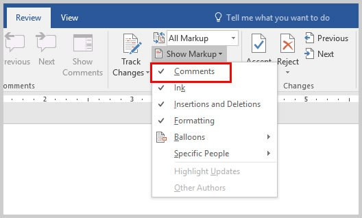 Microsoft Word Show Markup Drop-Down Menu | How to Copy and Paste Word  Comments - Copy Of Word