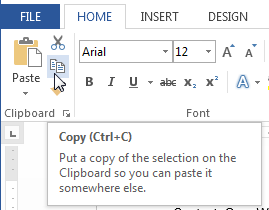 Screenshot of Word 2013 - Copy Of Word
