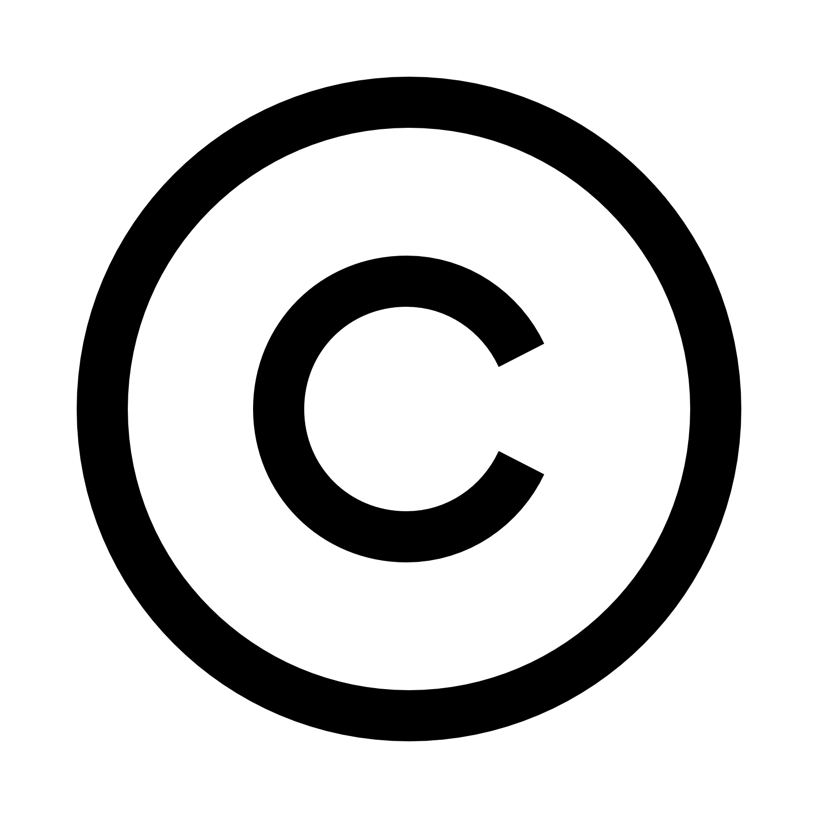 Copyright icon - C   PNG