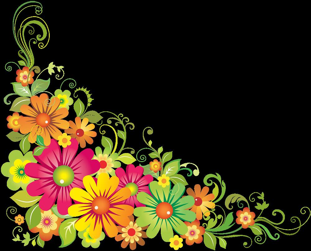 Floral Png Image PNG Image - Floral PNG - Corner Design PNG