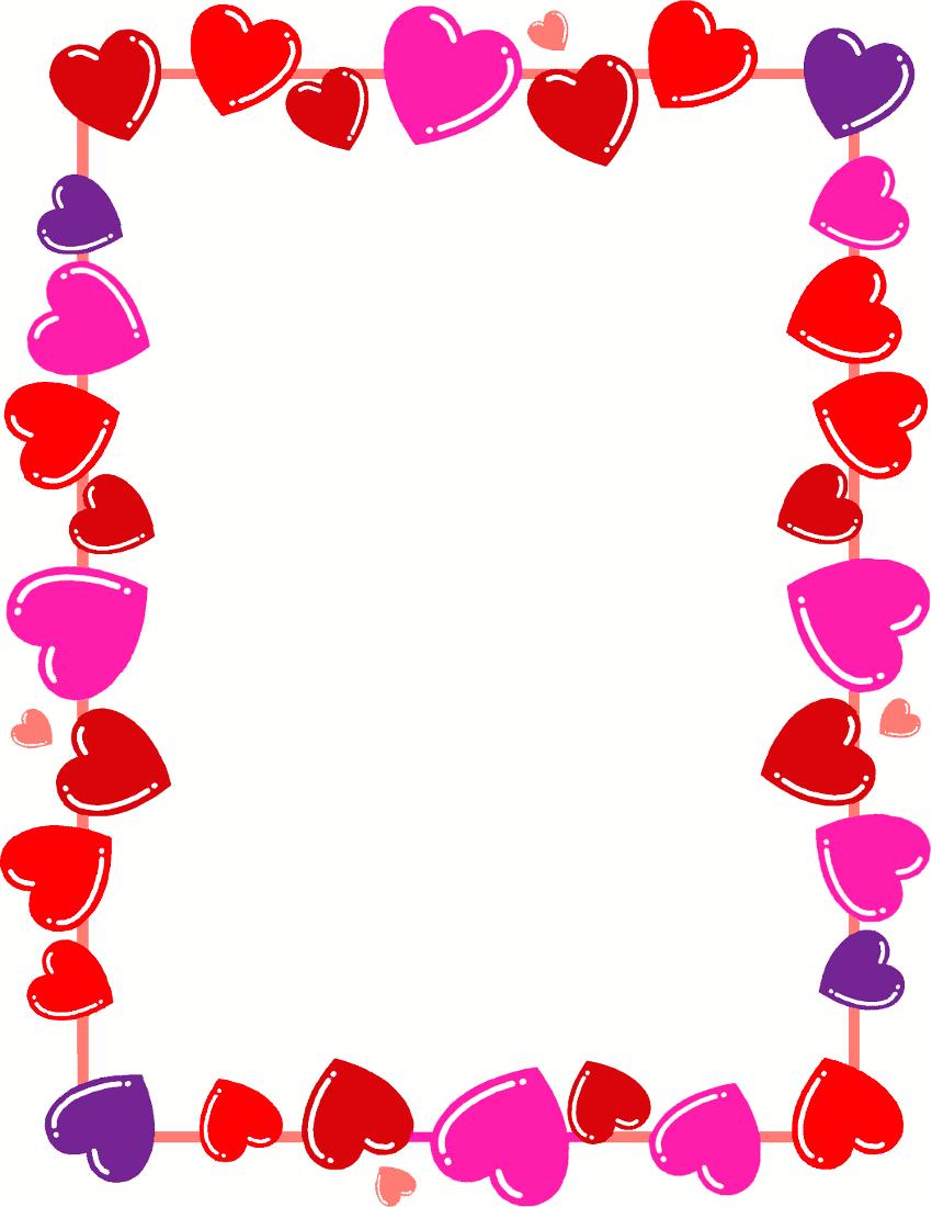 Cornici Cuori PNG - 135354