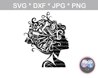 Hairstylist Girl, cosmetology, woman svg dxf png jpg digital cut file for  cutting machines - Cosmetologist PNG