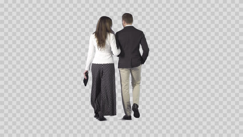 Attractive Young Couple Are Slowly Walking From The Camera. Camera Is  Static. Lens 85 Mm. Footage With Alpha Channel. File Format - .mov, Codec  PNG Alpha PlusPng.com  - Couple PNG HD