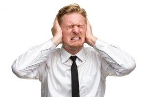 Annoyed Man Covering Ears - Covering Ears PNG