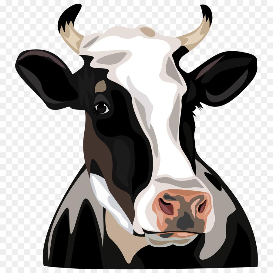 Holstein Friesian cattle Clip art - Cow Head - Cow Head PNG HD