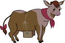 Mrs. Cow - Cow Udders PNG
