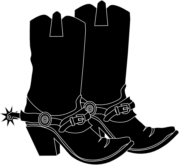 Baby cowboy boots clipart free clipart images 3 - Cowboy Boots With Spurs PNG