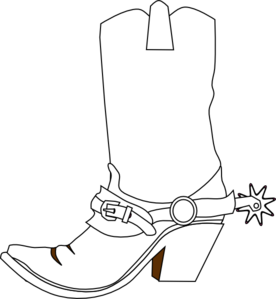 Cowboy Boot clip art - vector clip art online, royalty free . - Cowboy Boots With Spurs PNG