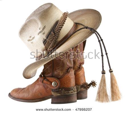 Cowboy boots, spurs u0026 hat - Cowboy Boots With Spurs PNG