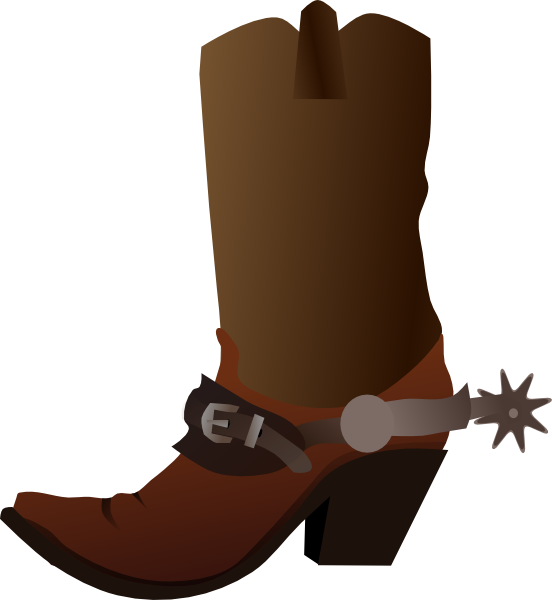 Cowboy Clip Art | Cowboy Boot clip art - Cowboy Boots With Spurs PNG