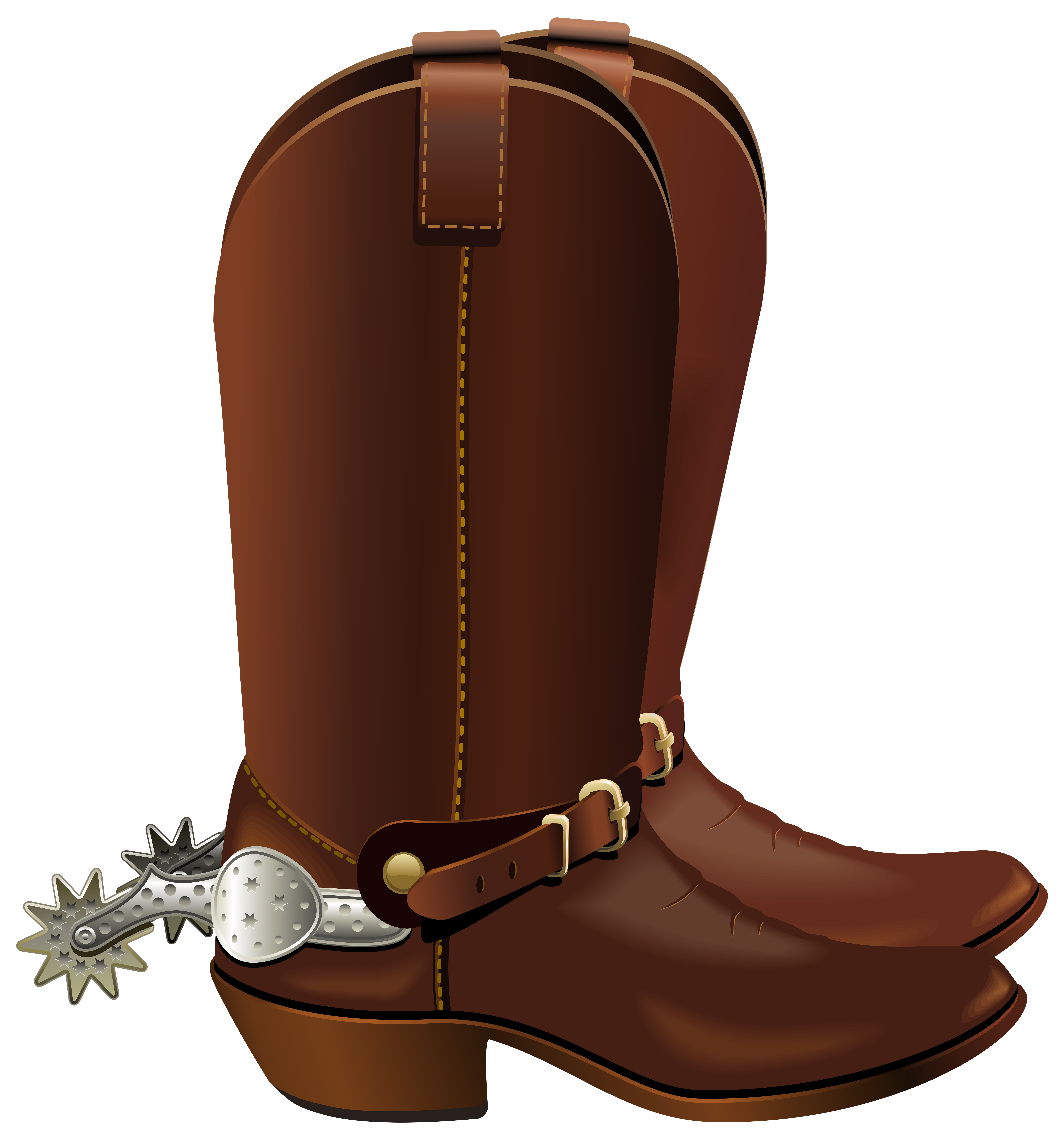 Western Boot Cliparts #2649357 - Cowboy Boots With Spurs PNG