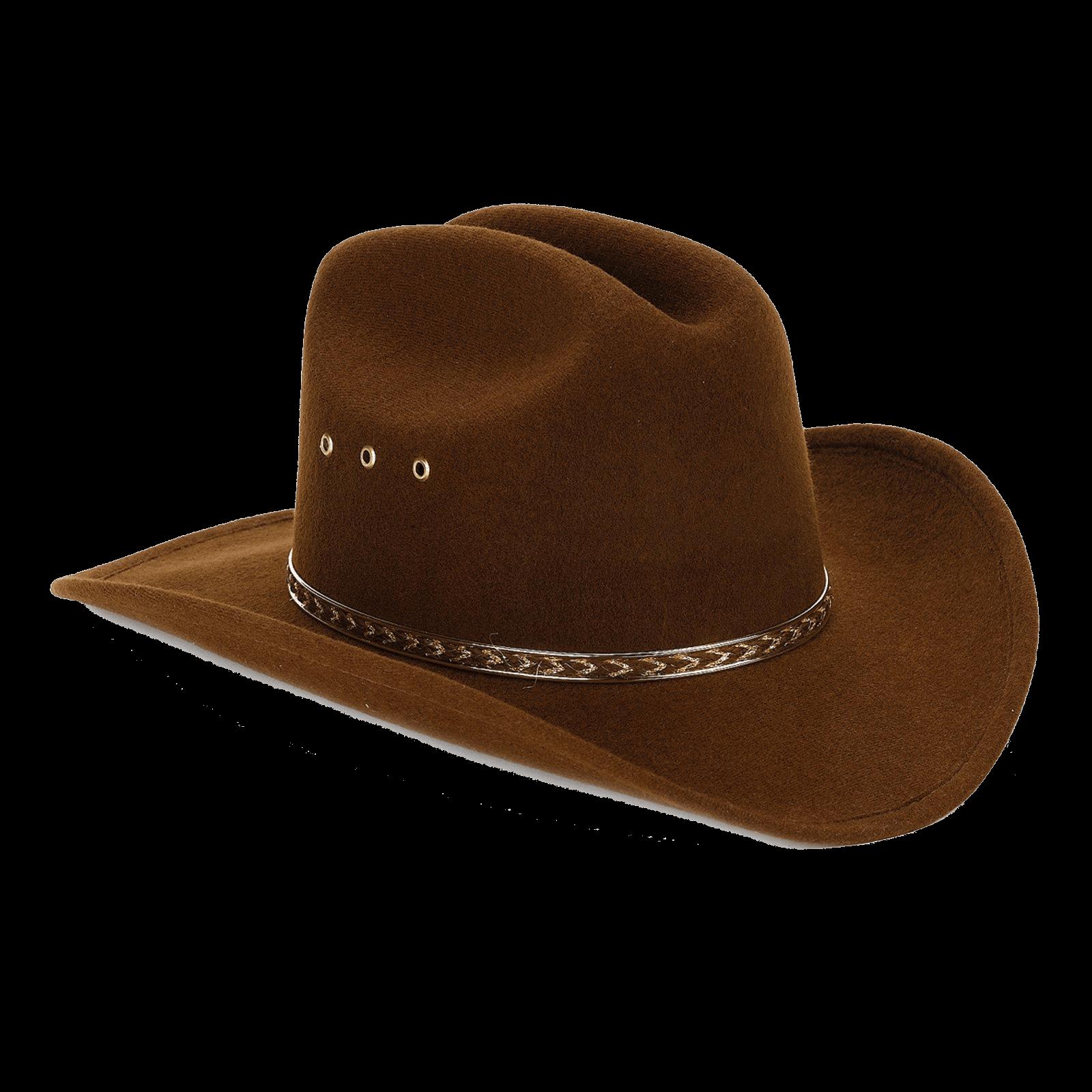 Cowboy Hat Brown Felt - Cowboy Hat PNG
