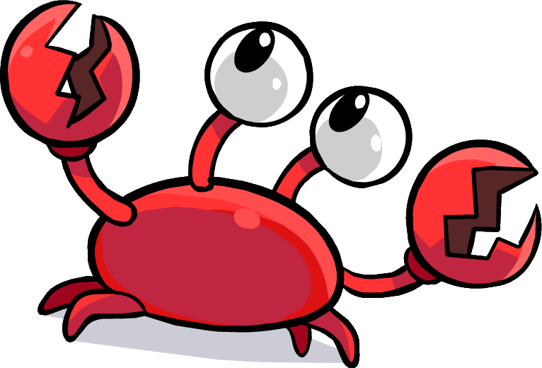 Klutzy the crab.png - Crab PNG