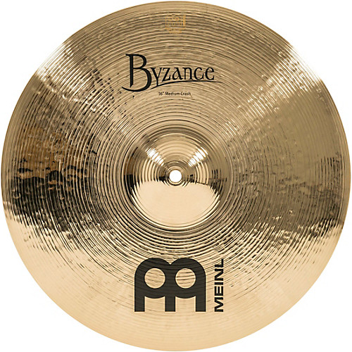 Meinl Byzance Brilliant Medium Crash Cymbal - Crash Cymbal PNG