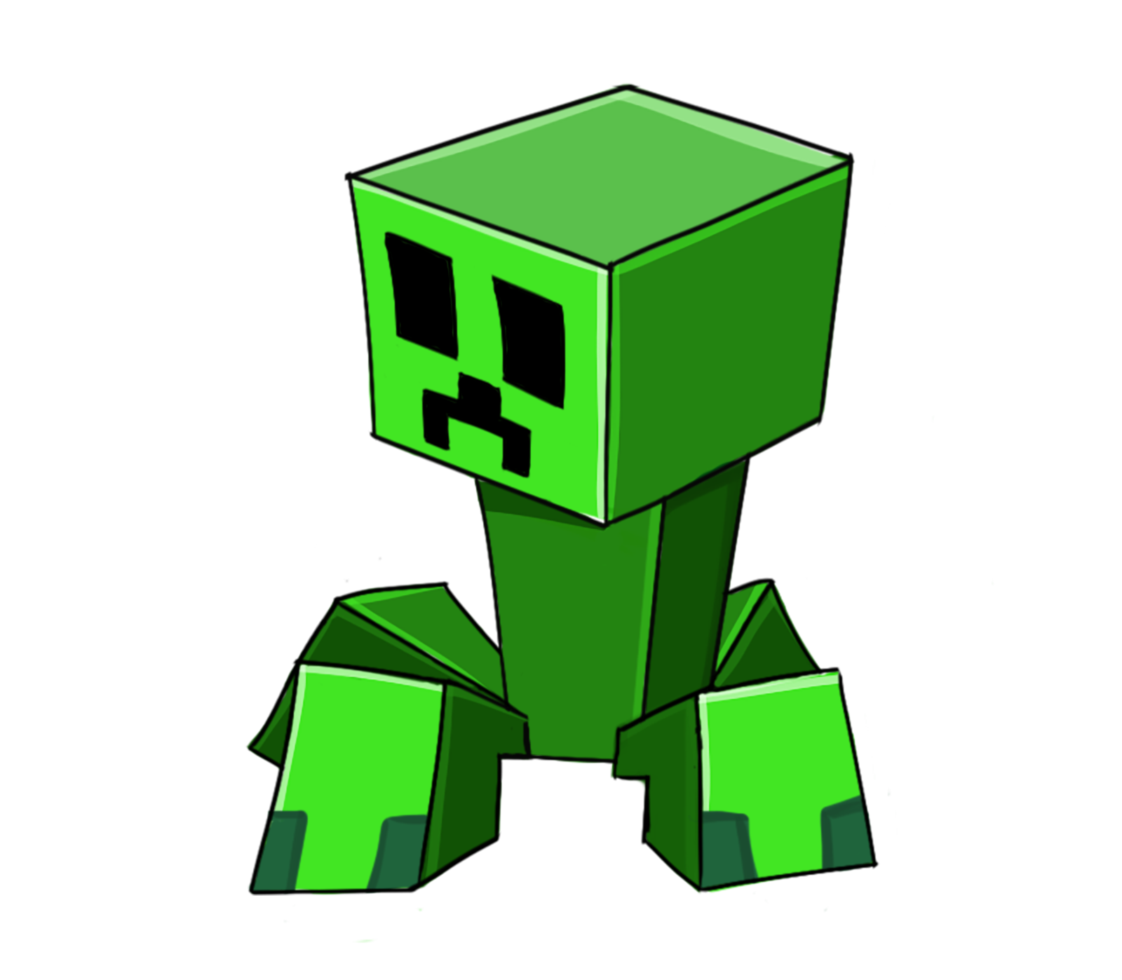 Creeper Transparent Background - Minecraft PNG