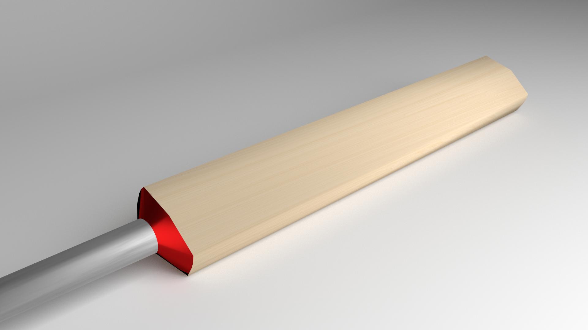 3D Modeled Cricket Bat - Cricket Bat PNG HD