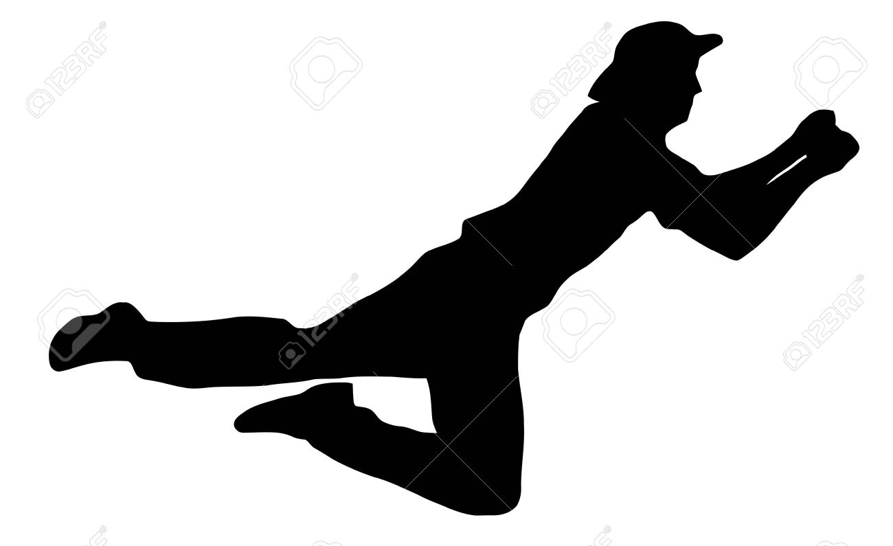 Sport Silhouette - Cricket Fielder Catching Ball isolated black image on  white background Stock Vector - - Cricket Catch PNG
