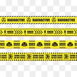 Crime scene cordon, Yellow Cordon, Yellow Black Warning Line, Yellow And  Black Twill - Crime Scene PNG HD