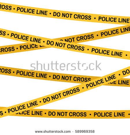 Crime Scene Yellow Tape Police Line Stock Vector HD (Royalty Free)  589969358 - Shutterstock - Crime Scene PNG HD