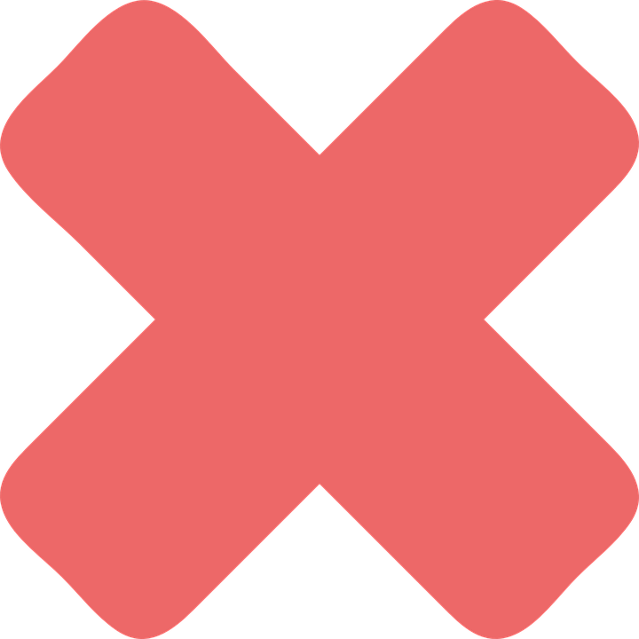 Cross Mark, Red, Sign, Icon,
