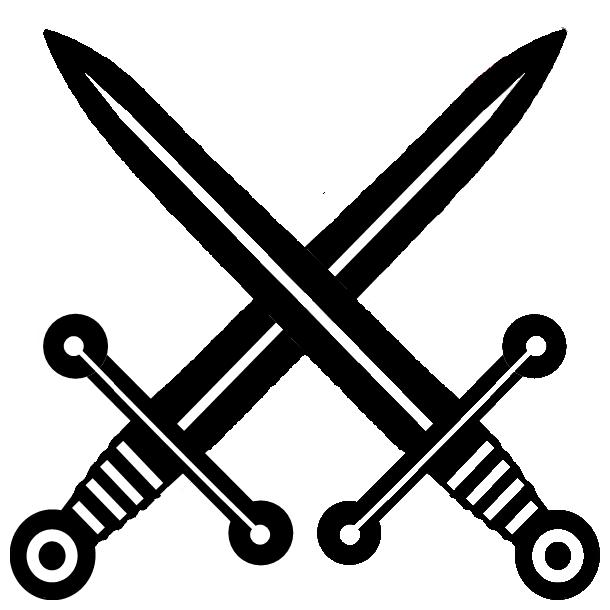 Battle clipart crossed sword