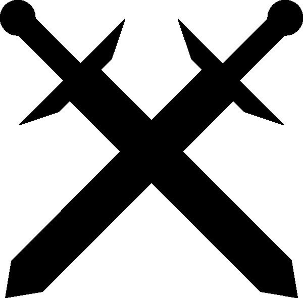Black-crossed-swords-hi.png - Crossed Swords PNG HD