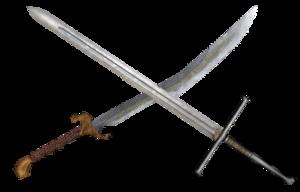 Crossed swords - Crossed Swords PNG HD