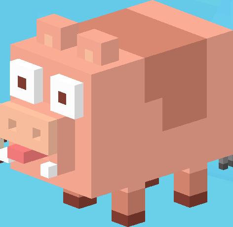 File:Big Fat Pig.png - Crossy Road HD PNG